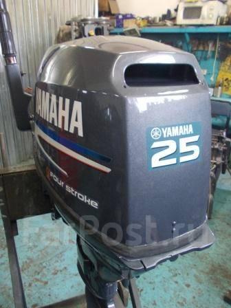 Yamaha. 25,00л.с., 4х тактный, бензин, нога S (381 мм), Год: 2002 год