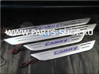 Накладка на порог. Toyota Camry, ACV40, AHV40, ASV40, CV40, GSV40, SV40