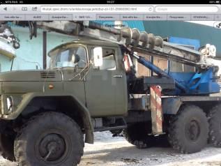 Услуги спецтехники-ямобур ЗИЛ 131, опоры лиственичные ЛЭП