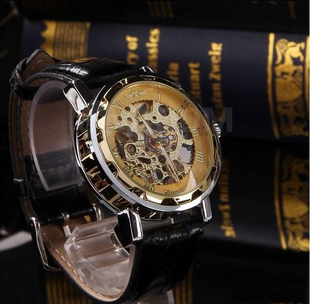 e2ad45666aa5 Мужские наручные механические часы Winner Skeleton GOLD - Другое в Омске
