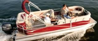 Морской алюминиевый понтонный катер-катамаран. 2016 год год, длина 5,85м., двигатель подвесной, 115,00л.с., бензин