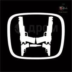 Наклейка Логотип Honda в стиле JDM с пистолетами