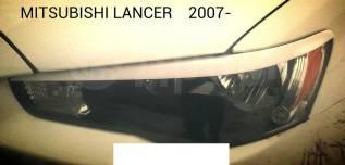 Накладка на фару. Mitsubishi Lancer, CX2A, CX3A, CX4A, CX5A, CX8A, CX9A, CY2A, CY3A, CY4A, CY5A, CY8A, CY9A Двигатели: 4A91, 4B10, 4B11, 4B11T, 4B12...