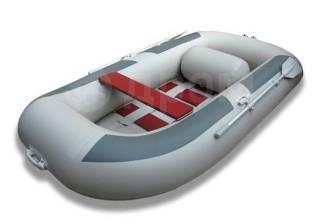 Лодка ПВХ Комфорт 300, серая. длина 2,95м.