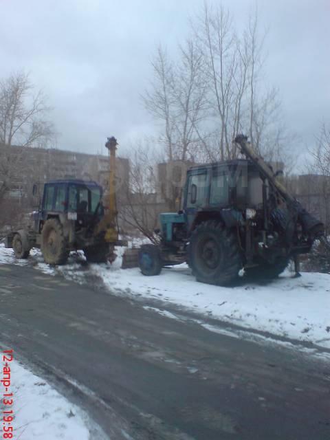 Услуги Ямобура, Аренда Ямобура, ямобур проезжаем под газовой трубой