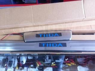 Накладка на порог. Nissan Tiida Latio. Под заказ