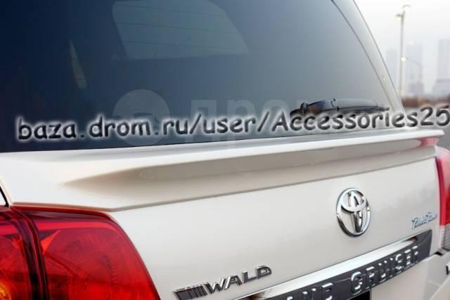 Спойлер на заднее стекло. Toyota Land Cruiser, URJ202, URJ202W, UZJ200, UZJ200W, VDJ200