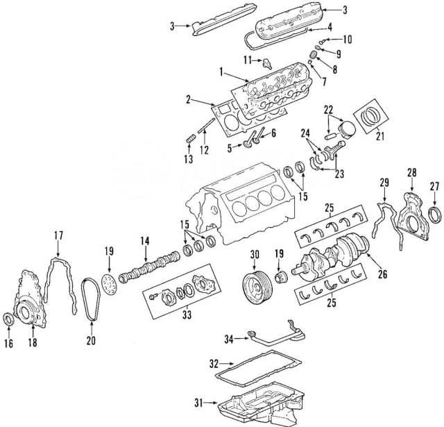 Прокладка масляного поддона. Chevrolet: Corvette, Tahoe, Camaro, Express, Lumina, Avalanche, Caprice, TrailBlazer Pontiac GTO Pontiac Firebird Buick R...