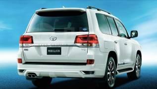Насадка на глушитель. Toyota Land Cruiser, URJ202, URJ202W, UZJ200, UZJ200W, VDJ200 Toyota Land Cruiser Prado Двигатели: 1URFE, 1VDFTV, 2UZFE