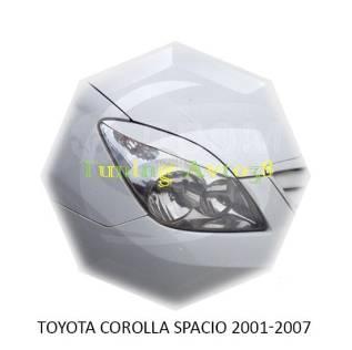 Накладка на фару. Toyota Corolla Spacio, NZE121N, ZZE122N, ZZE124N Двигатели: 1NZFE, 1ZZFE