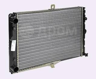Радиатор охлаждения двигателя. Лада Приора, 2170, 2171, 2172, 21728 Двигатели: BAZ21114, BAZ21116, BAZ21126, BAZ21127