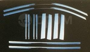 Накладка на боковую дверь. Toyota Highlander, ASU40, GSU40, GSU45, MHU48 Двигатели: 1ARFE, 2GRFE, 3MZFE