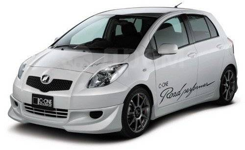 Обвес кузова аэродинамический. Toyota Yaris Toyota Vitz