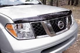 Дефлектор капота. Nissan Pathfinder, R51, R51M Nissan Navara, D40, D40M