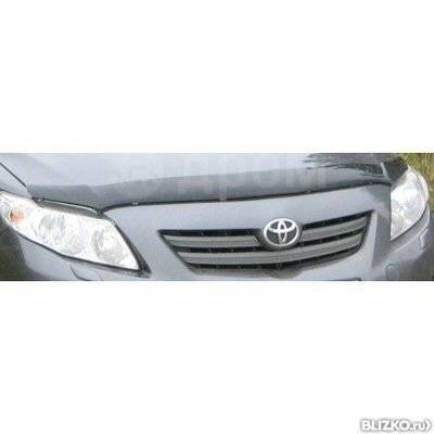 Дефлектор капота. Toyota Corolla, ADE150, NDE150, NRE150, ZRE142, ZRE151 Двигатели: 1ADFTV, 1NDTV, 1NRFE, 1ZRFAE, 1ZRFE, 2ZRFE