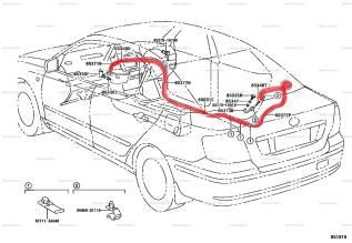 Шланг омывателя заднего стекла. Toyota: Allion, Corona, Windom, Aurion, Sprinter Trueno, Corolla, Altezza, Tercel, Sprinter, Vista, Mark II Wagon Blit...