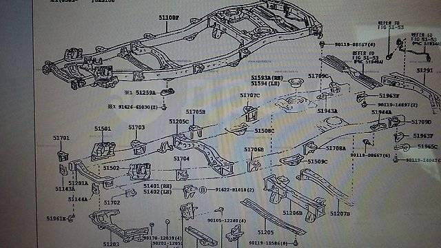 Подушка кузова. Toyota Land Cruiser, HDJ101, HDJ101K, UZJ100, UZJ100L, UZJ100W Lexus LX470, UZJ100. Под заказ