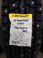 Dunlop SP Winter ICE 01. Зимние, шипованные, 2015 год, без износа, 4 шт
