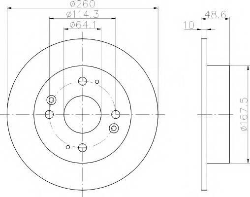 Тормозной диск задний 1шт 42510-SV4-A00 Nipparts J3314007