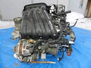 Двигатель в сборе. Nissan: Wingroad, Cube, Bluebird Sylphy, Tiida Latio, March, Cube Cubic, Latio, Tiida, AD, Note Двигатель HR15DE