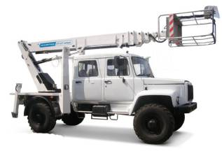 Випо-24. Автогидроподъемник ВИПО-24-01 на шасси ГАЗ-33086 (4х4) 5м. кабина, 4 750куб. см., 24,00м.