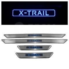 Накладка на порог. Nissan X-Trail