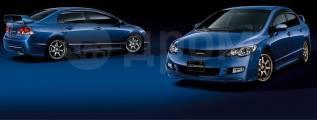Обвес кузова аэродинамический. Honda Civic, FA1, FA3, FA5, FD1, FD2, FD3, FG1, FG2, FK1, FK2, FK3, FN1, FN3 Двигатели: K20A, K20Z3, L13A7, LDA, LDA2...