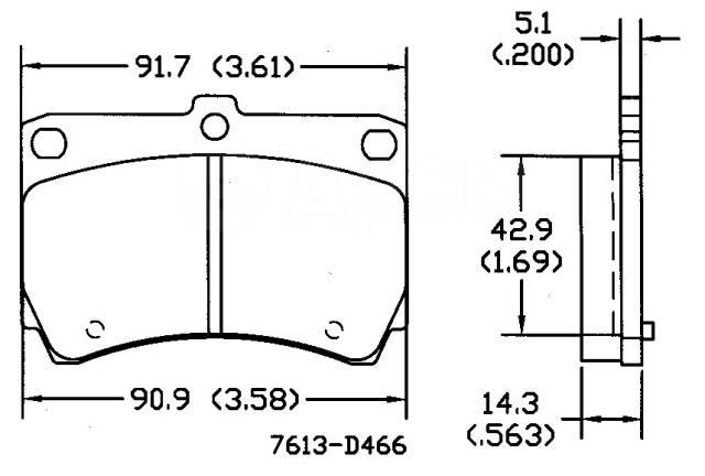 Колодки тормозные. Mazda: Protege, Training Car, Familia, 323F, 323, Eunos 100 Ford Laser, BG3PF, BG5PF, BG6PF, BG6RF, BG7PF, BG8PF, BG8RF, BHA3PF, BH...