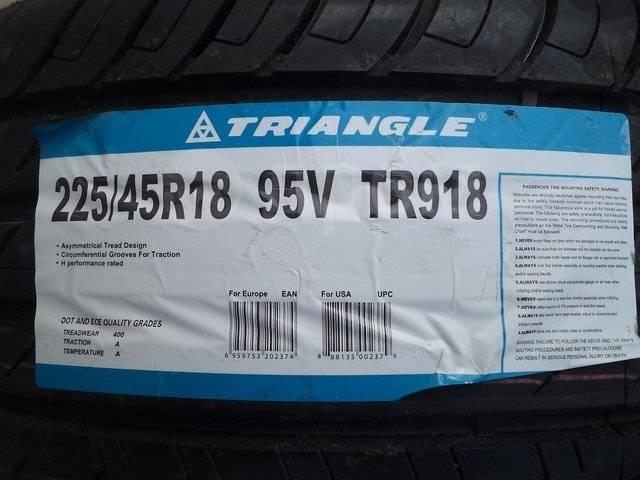 Triangle Group TR918. Летние, 2017 год, без износа, 4 шт