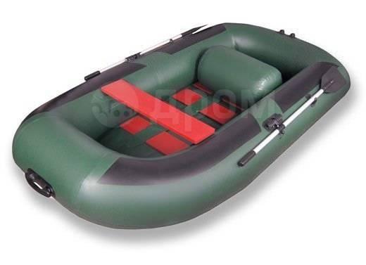 Лодка ПВХ Комфорт 300, зеленая. длина 2,95м.