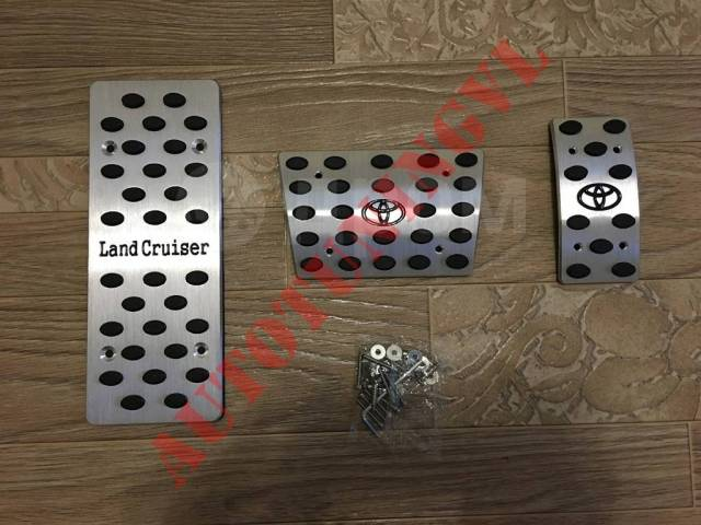 Накладка на педаль. Toyota Land Cruiser, GRJ200, J200, URJ200, URJ202, URJ202W, UZJ200, UZJ200W