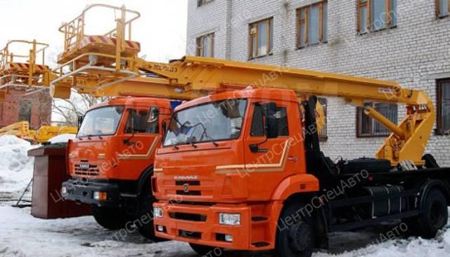 КамАЗ 43253. Автогидроподъемник Камаз 43253 (4х2), 6 700куб. см., 28,00м.