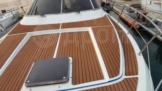 Монтаж палубного покрытия из искусственного тика для яхт и катеров
