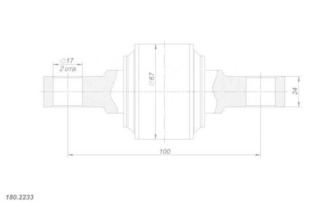 Рем. комплект реактивной штанги MAN, Scania, Volvo, d67-100-d17-24 ROST. MAN Scania Volvo
