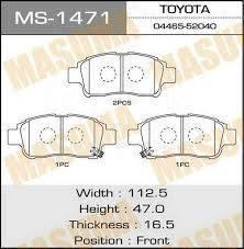 Колодка тормозная. Toyota: Yaris, Platz, Vios, Vitz, Soluna Vios, Echo, Probox, Succeed Двигатели: 1NDTV, 1NZFE, 1SZFE, 2NZFE, 8AFE, 2SZFE, 1NZFNE