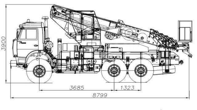 КамАЗ 43118 Сайгак. Novas-350 (36м) на шасси Камаз-43118 6x6 в Нижнем Новгороде, 11 760куб. см., 36м.