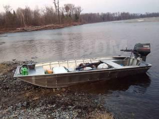 Алюминиевая лодка плоскодонка. Изготовление. 2017 год год, длина 3,00м., двигатель без двигателя, бензин. Под заказ