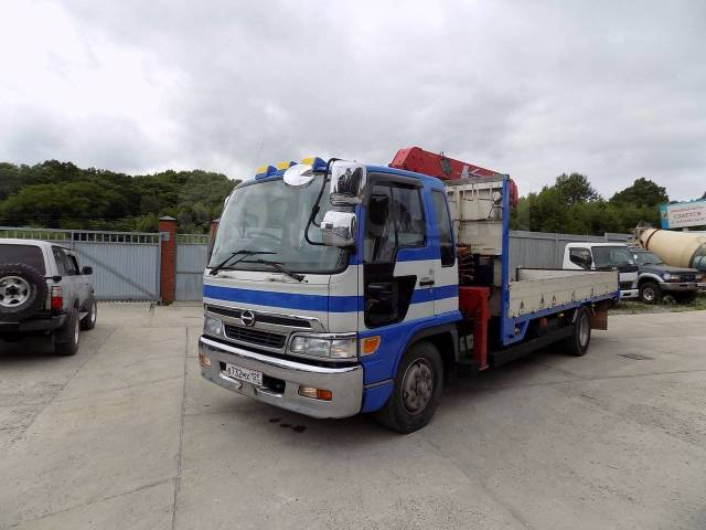 Hino Ranger. Грузовик HINO Ranger 2000 г. с крановой установкой., 8 000куб. см., 8 000кг.
