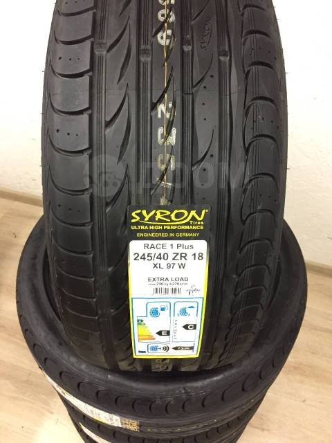 Syron RACE 1 Plus. Летние, 2016 год, без износа, 4 шт