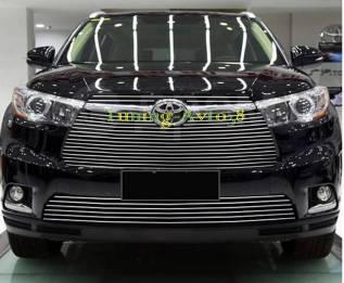 Молдинг решетки радиатора. Toyota Highlander, ASU50, ASU50L, GSU50, GSU55, GSU55L, GVU58 Двигатели: 1ARFE, 2GRFE, 2GRFXE. Под заказ