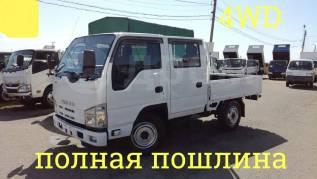 Isuzu Elf. 4WD, двухкабинник + борт 2 тонны, 2 000кг., 4x4