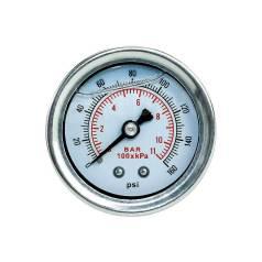 Универсальный топливный манометр с двойной шкалой давления - BAR и PSI. Лада: 2110, Калина, Гранта, 2115, 2104, Веста, 2105, 2106, 2107, 2111, 2112, 2...