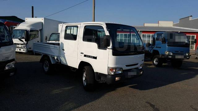 Nissan Atlas. 4WD, двухкабинник + борт 1 тонна, 3 200куб. см., 1 500кг.