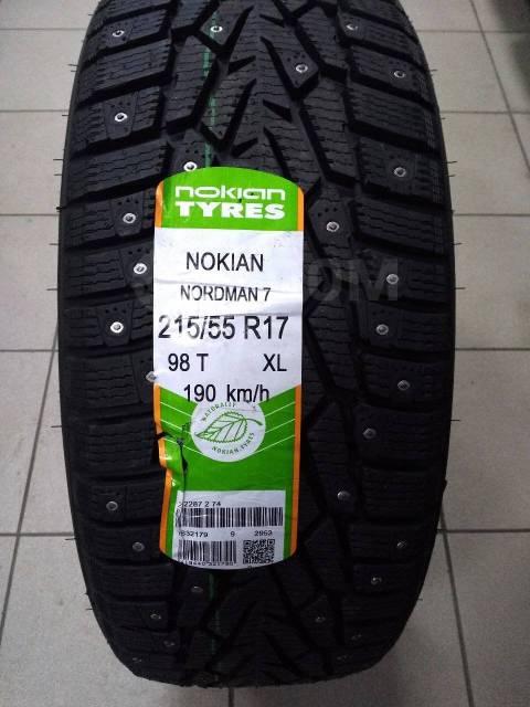 Nokian Nordman 7. Зимние, шипованные, без износа, 4 шт