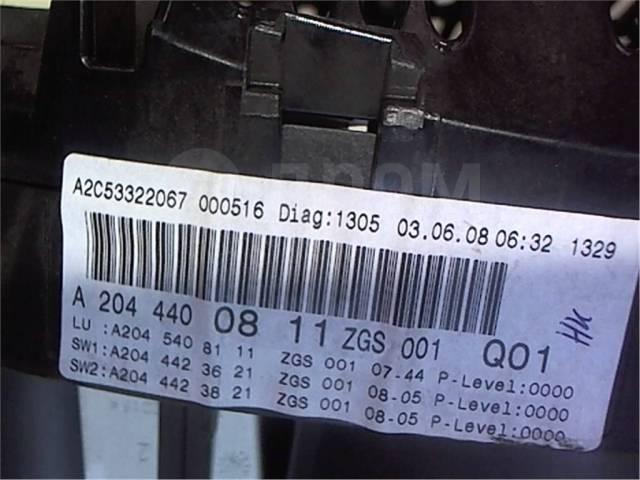 Щиток приборов (приборная панель) Mercedes C W204 2007-2013