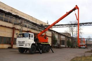 КамАЗ АГП-28. Автовышка АГП 29 метров на шасси Камаз 5350, 10 800куб. см., 29,00м.