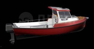 Катер с рубкой. Катер с надстройкой. Лодка с рубкой. Лодка с надстройкой. 2018 год год, длина 6,20м., двигатель подвесной, 20,00л.с., бензин. Под за...