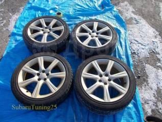 """Колеса Enkei Subaru STI R17 5х100 + Falken Espia EPZ 215/45 R17 зима. 7.0x17"""" 5x100.00 ET55 ЦО 64,1мм."""