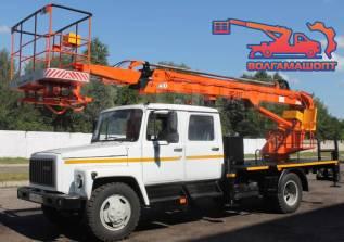ГАЗ 3309. АГП телескопический ВС-18Т на шасси двухрядная кабина, 4 430куб. см., 18,00м.