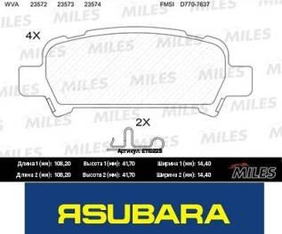 Колодки тормозные. Subaru Legacy, BE5, BE9, BEE, BH5, BL5, BL9, BLE, BP5, BP9, BPE, BPH Двигатели: EJ206, EJ208, EJ20X, EJ20Y, EJ253, EJ254, EJ255, EJ...